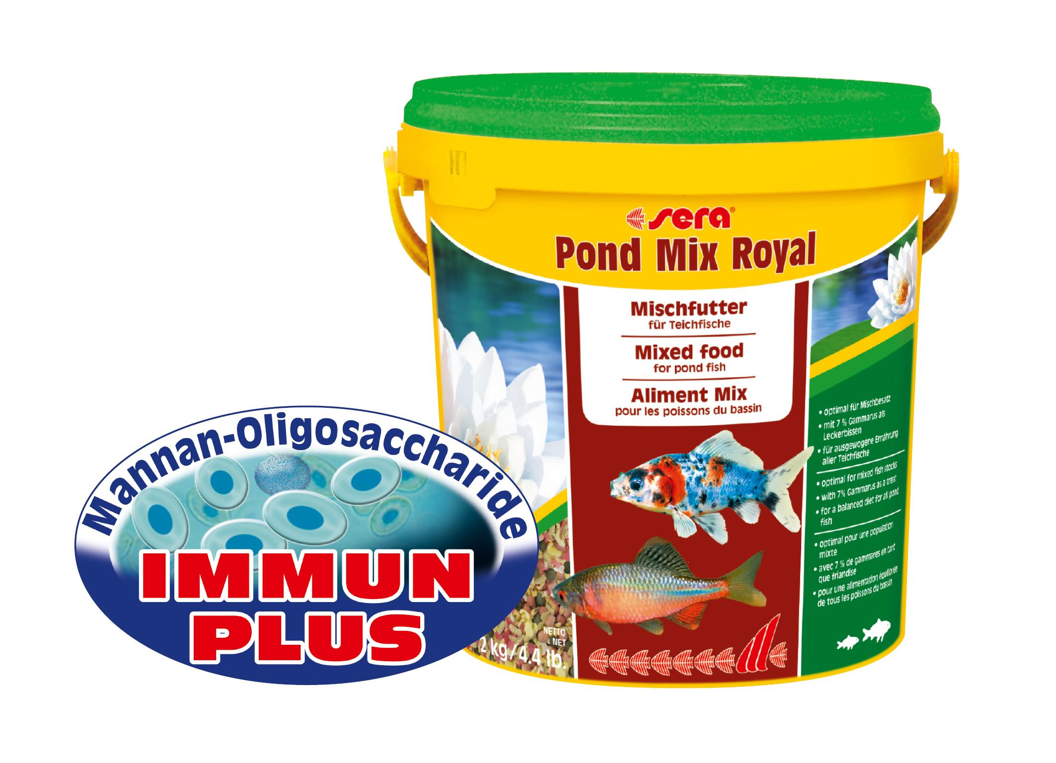 Sera 07190 pond granulat 10 l hauptfutter in stickform for Was fressen teichfische