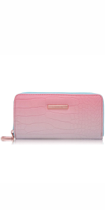 Caprese Nigella Women's Wallet (Peach & Brown)