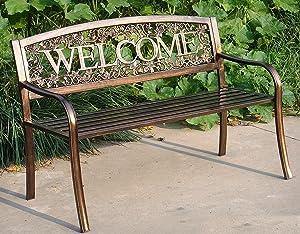 Amazon Com Leigh Country Tx 94101 Metal Welcome Bench