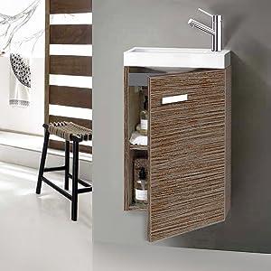 Mueble Conjunto de Baño Café