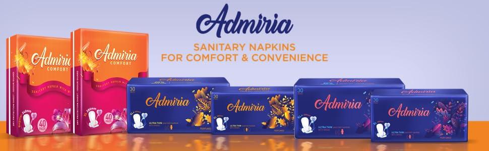Admiria Ultra Thin Cloud Soft XL+ Sanitary Pad Napkin