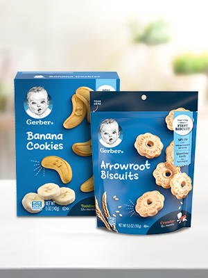 Gerber biscuits and cookies, are perfectly-sized snacks made for toddlers.
