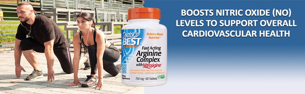 Fast Acting Arginine Complex with Nitrosigine arginine and silicon levels boost nitric oxide