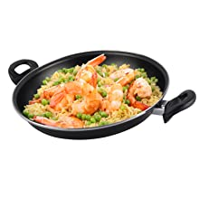 Magefesa Black Paellera 30 cm de Acero esmaltado, Antiadherente bicapa Reforzado, Color Negro Exterior. Apta para Todo Tipo de cocinas, incluida ...