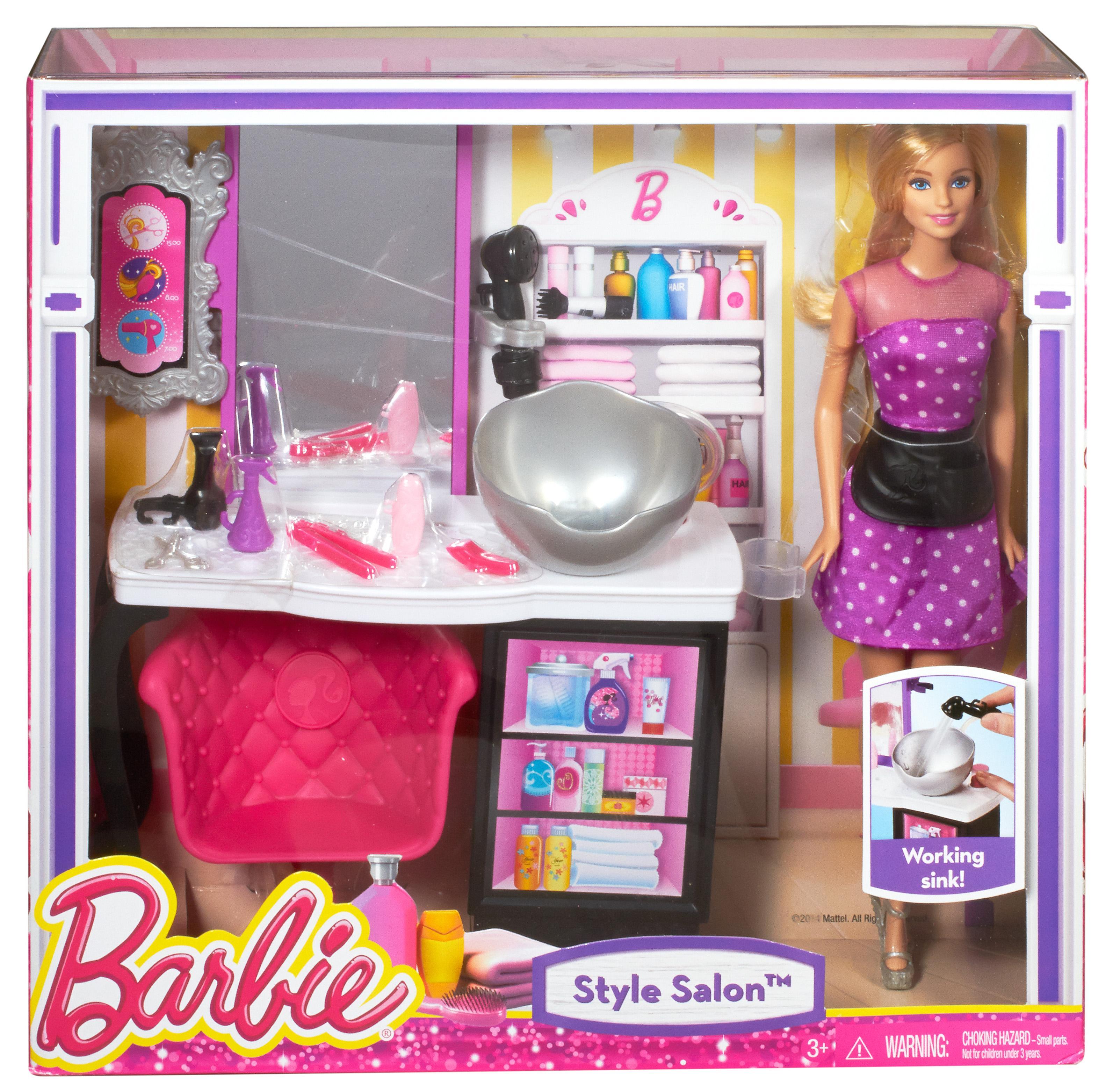 Barbie Style Salon Playsets Amazon Canada