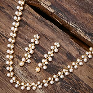 ZAVERI PEARLS,JEWELLERY,JEWELLERY SET,PEARLS SET,PEARLS JEWELLERY,PEARLS WESTERN JEWELLERY