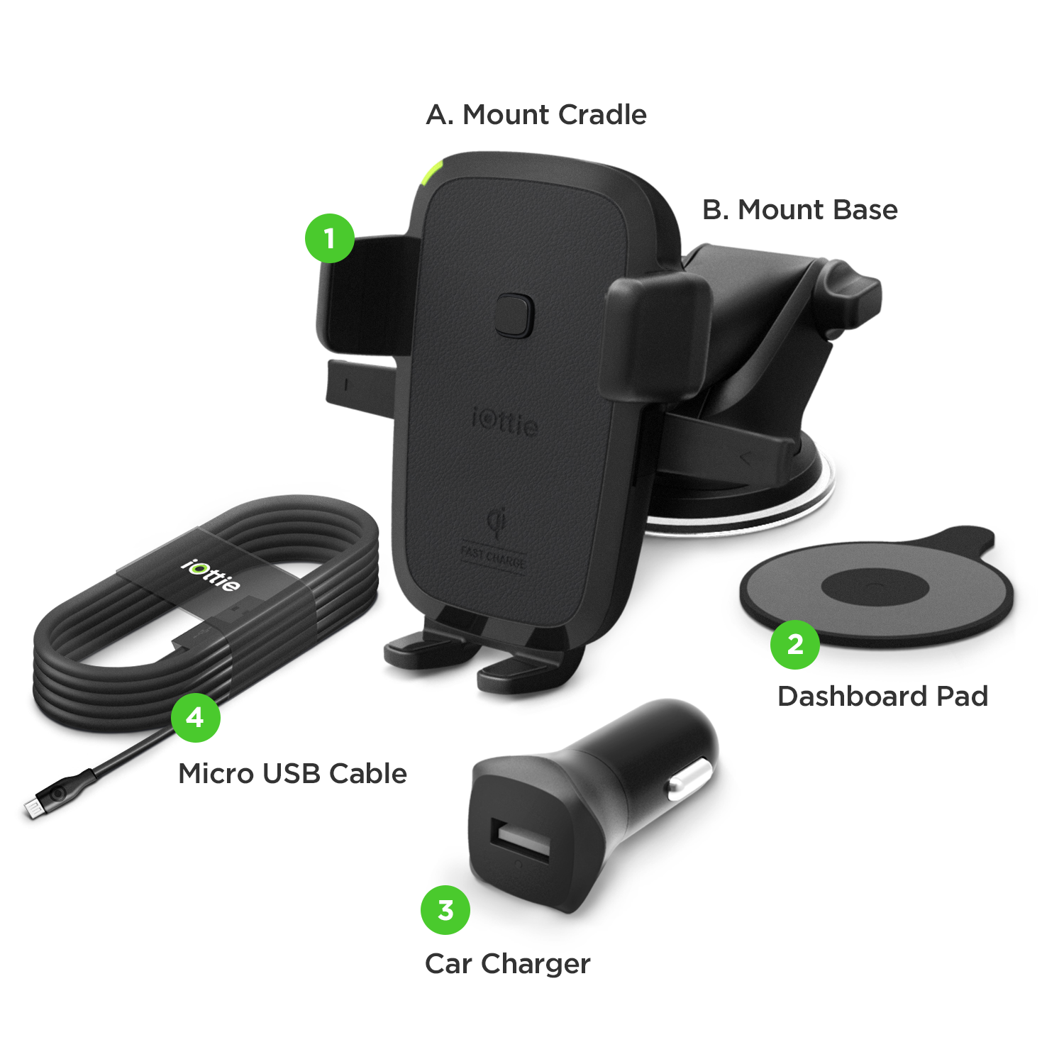 Amazon.com: IOttie Easy One Touch Qi Wireless Fast Charge