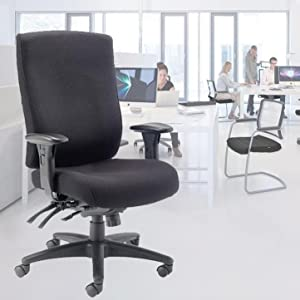 Office Hippo Hour High Back Office Chair With Arms Fabric