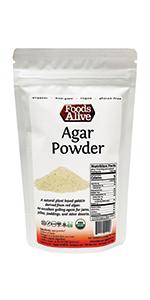 Organic Plant-Based Agar Agar Powder - Foods Alive