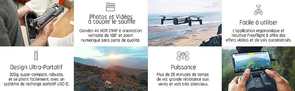 Caractéristiques clés du drone ANAFI