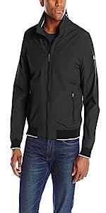 886bbfc8 Tommy Hilfiger Men's Stand Collar Lightweight Yachting Jacket · Tommy  Hilfiger Men's Performance Taslan Windbreaker Jacket With Hidden Hood ...