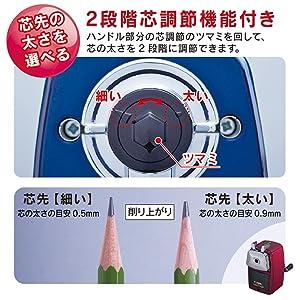 鉛筆削り 日本製 レッド ブルー 赤 青