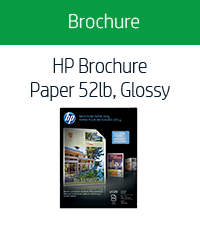 HP Brochure Paper 52lb, Glossy