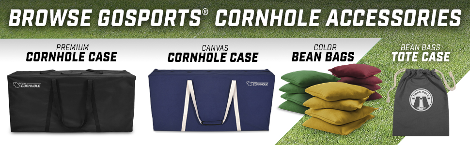 gosports cornhole bean bag toss boards game set lawn yard game kids tailgating sports fan regulation