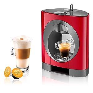 NESCAFE DOLCE GUSTO COFFEE, COFFEE MACHINE, CAPSULES, ESPRESSO, POD, oblo red