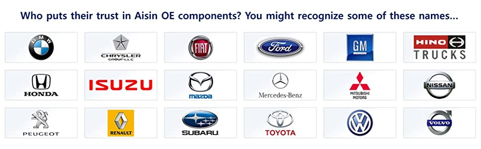 OE BMW Chrysler Fiat Ford GM Honda Isuzu Mazda Mercedes Benz Volkswagen Toyota Volvo Nissan Subaru