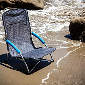 Oniva A Picnic Time Brand Tranquility Portable Folding Beach Chair Black 32 X 6 X 6 Camping Chairs Sports Outdoors