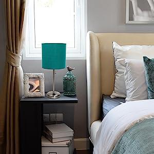 teal bedside lamp