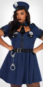 costume, plus size, police, cop, uniform, dress