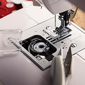bobine /à fil pour les machines les plus courantes transparente 10 bobines de machine /à coudre en plastique Levivo Bobine de machine /à coudre transparente