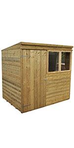 7x5 overlap pent garden shed dip treated 7x5 overlap pent garden shed pressure treated 7x5 shiplap pent garden shed 7x5 tongue groove pent garden