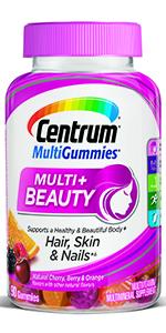 Centrum MultiGummies Multi + Beauty