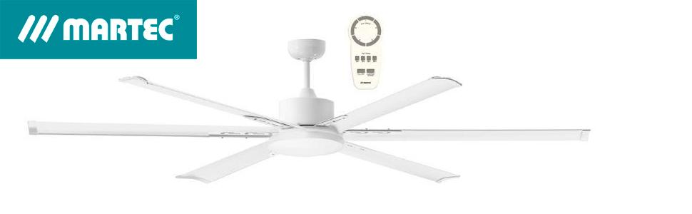 Martec Ventilador de Techo Albatross DC LED 2100mm Blanco: Amazon.es: Hogar