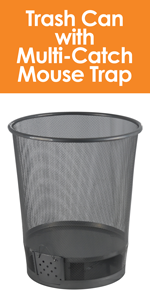 Southern Homewares Trash Can with Multi Catch Mouse Trap