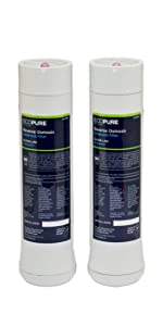EcoPure ECOROF Reverse Osmosis Under Sink Replacement Filter Set