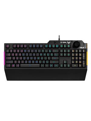 Asus TUF Gaming K1 - Teclado RGB con Control de Volumen (Resistencia a Salpicaduras, Barra de luz Lateral y Armoury Crate)
