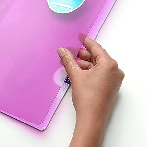 24 x 32 cm 96 Seiten verschiedene Farben 3 St/ück 90 g Oxford OpenFlex Notizb/ücher Umschlag aus Polypropylen kariert gro/ße Karos