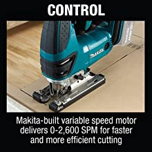 control makita bulity motor speed spm strokes per minute faster efficient cutting follow guide line