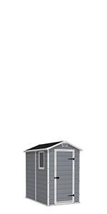 Keter - Caseta de jardín exterior Manor Pent, Color gris ...