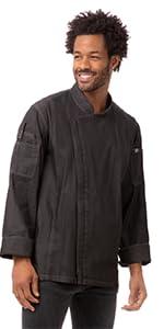 Chef Works Men's Gramercy Denim Chef Coat