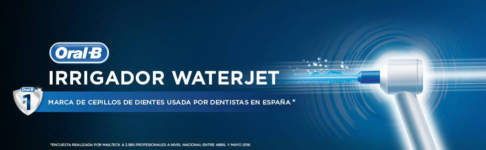 Oral-B WaterJet - Sistema de limpieza irrigador, color blanco y azul