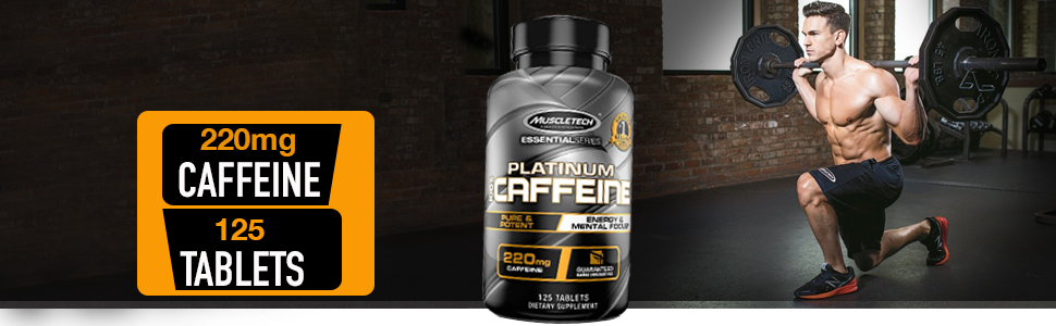 Muscletech Essential Series Platinum 100% Caffeine Tablets - 125 Count: Amazon.in: Health & Personal Care