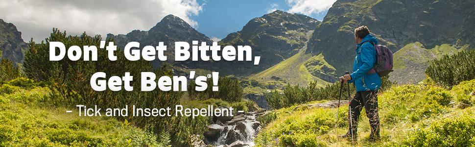 Don't Get Bitten, Get Ben's! Tick and Insect Repellent