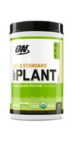 optimum nutrition plant protein, gold standard plant protein, organic plant protein, vegan protein
