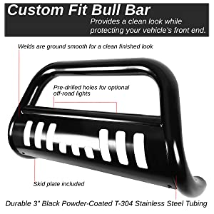 DNA Motoring BURB024BK 3 Front Bumper Push Bull Bar For 09-15 Honda Pilot