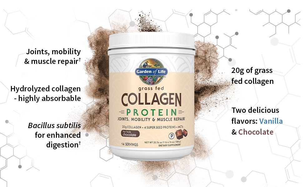 Garden of Life Grass Fed Collagen hydrolized joints mobility amp; muscle repair