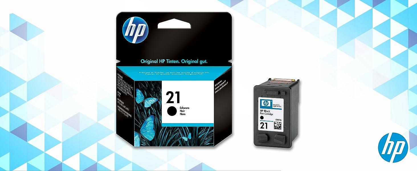Hp C9351ae Tintenpatrone Nr 21 Schwarz 190 Seiten Bürobedarf Schreibwaren