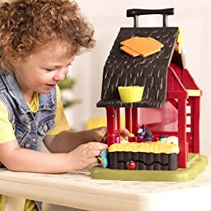 Farm toy animal toy play-set portable barn Fisher price-barn toy farm with animal set Animal toy