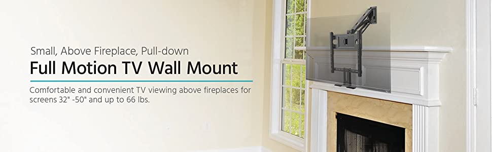 Amazon Com Monoprice Above Fireplace Pull Down Full Motion