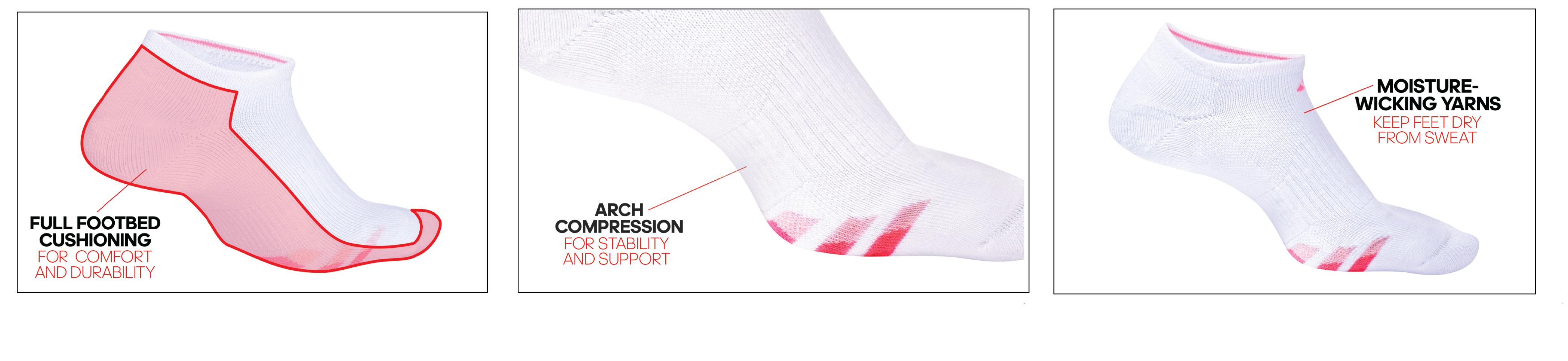 af5704015a61f0 adidas Women s Cushioned Low Cut Socks (3-Pack)