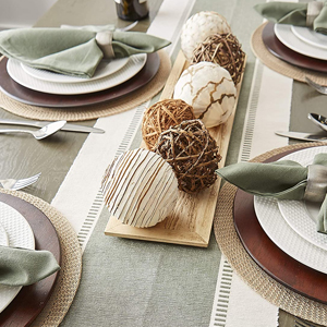 french stripe placemats inches linen sequin glitter brown tables decorations country gingham small