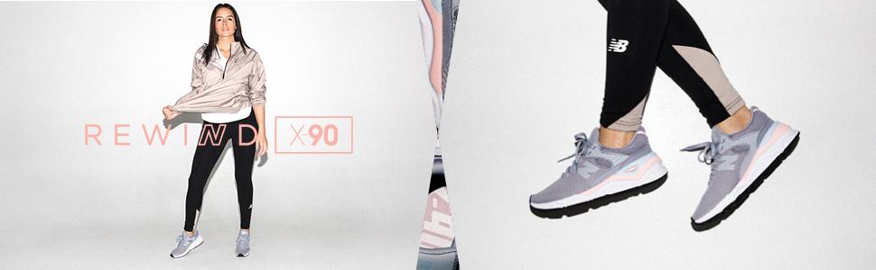 New Balance X-90, Damen Niedrig, Weiß (Nimbus Cloud/Team Away Grey Pb), 45  EU (10.5 UK)