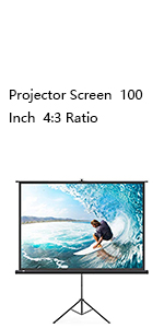 100 Inch 4:3 Projector Screen with Stand