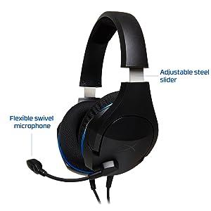 Adjustable steel slider & flexible swivel mic