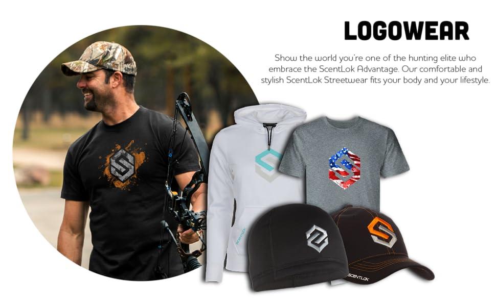 logo, tees, hats, scentlok, hunting