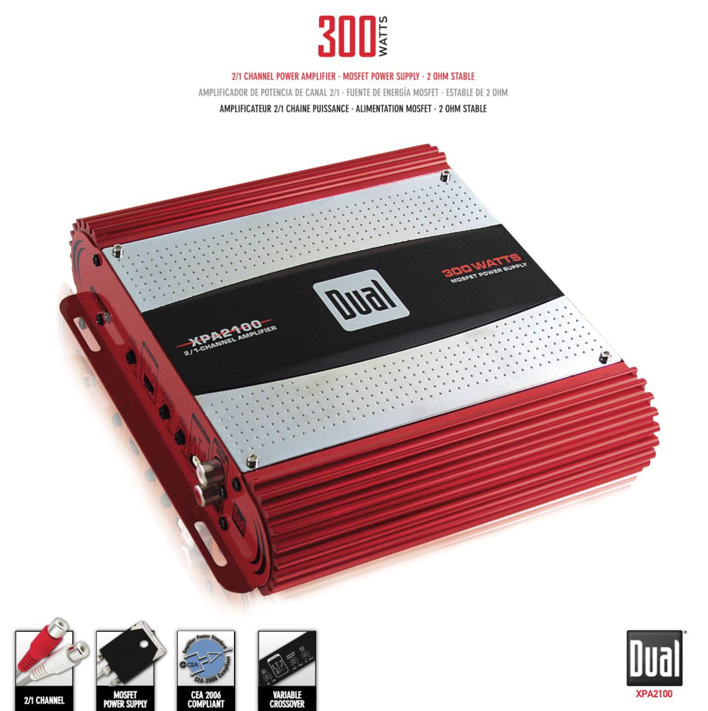Dual electronics xpa2100 200 watt 2 channel car audio for California 2100 amp